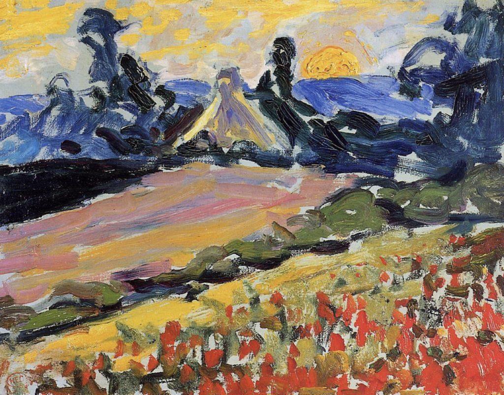 Paysage au coucher de soleil de Henri-Edmond Cross