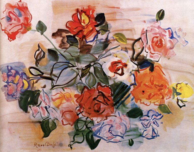 Bouquet de roses de Raoul Dufy