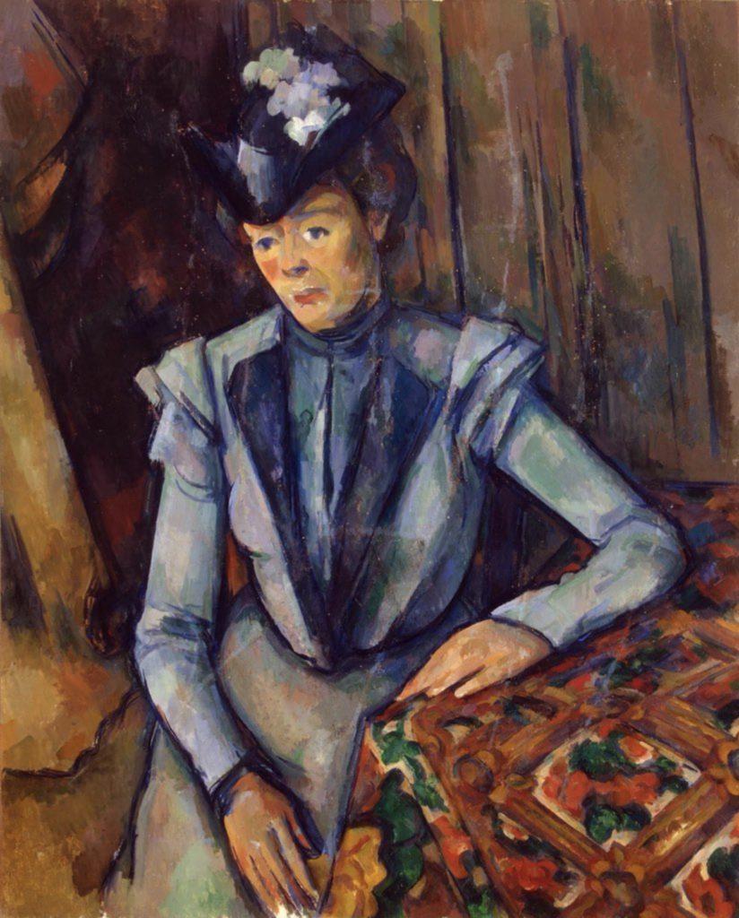 Femme en bleu de Paul Cézanne