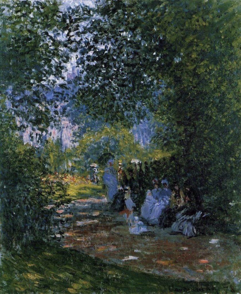 Parc Monceau par Claude Monet