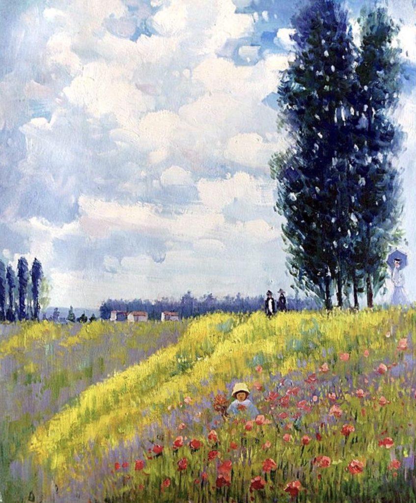 Promenade dans les prés à Argenteuil de Claude Monet