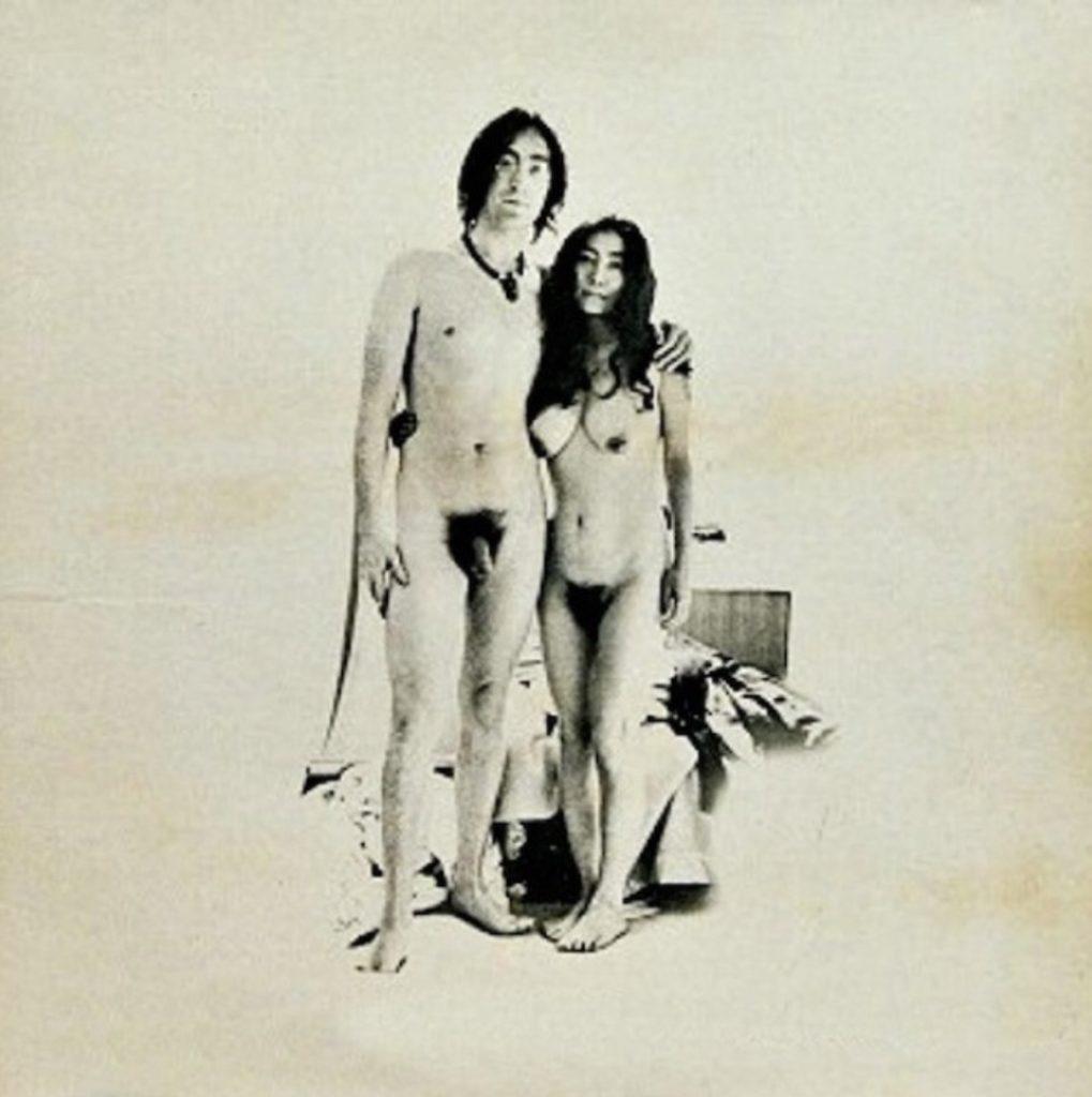 John Lennon et Yoko Ono, couverture de l'album Unifinished Music, Two Virgins