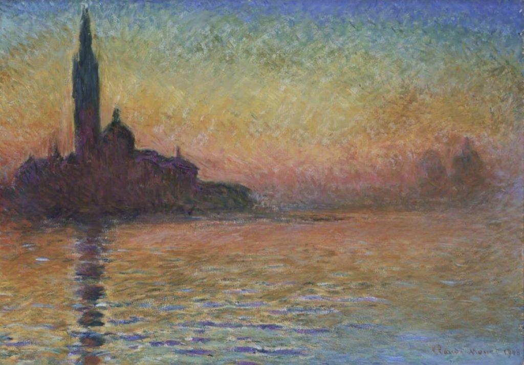 San Giorgio Maggiore au crépuscule par Claude Monet