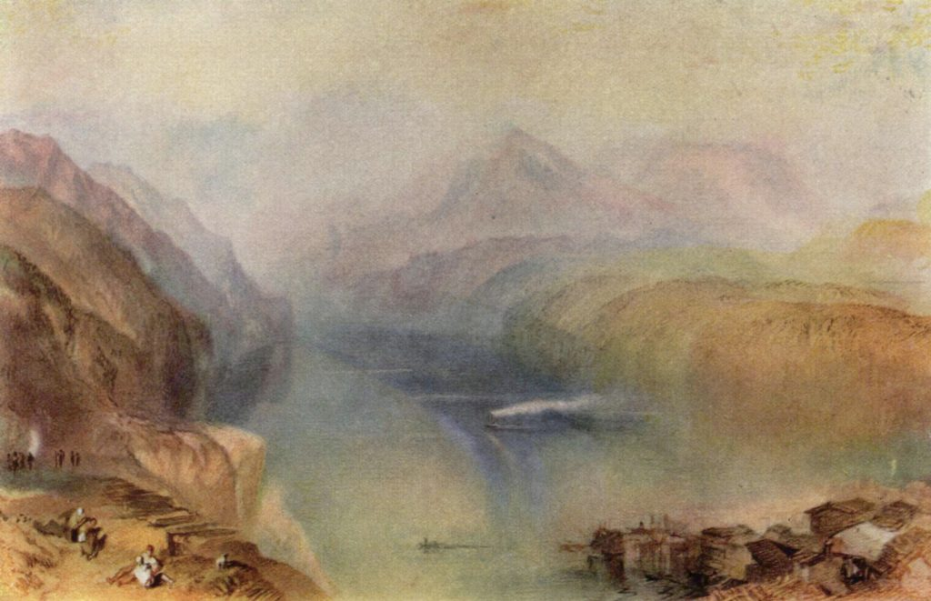 Lac des Quatre-Cantons de William Turner