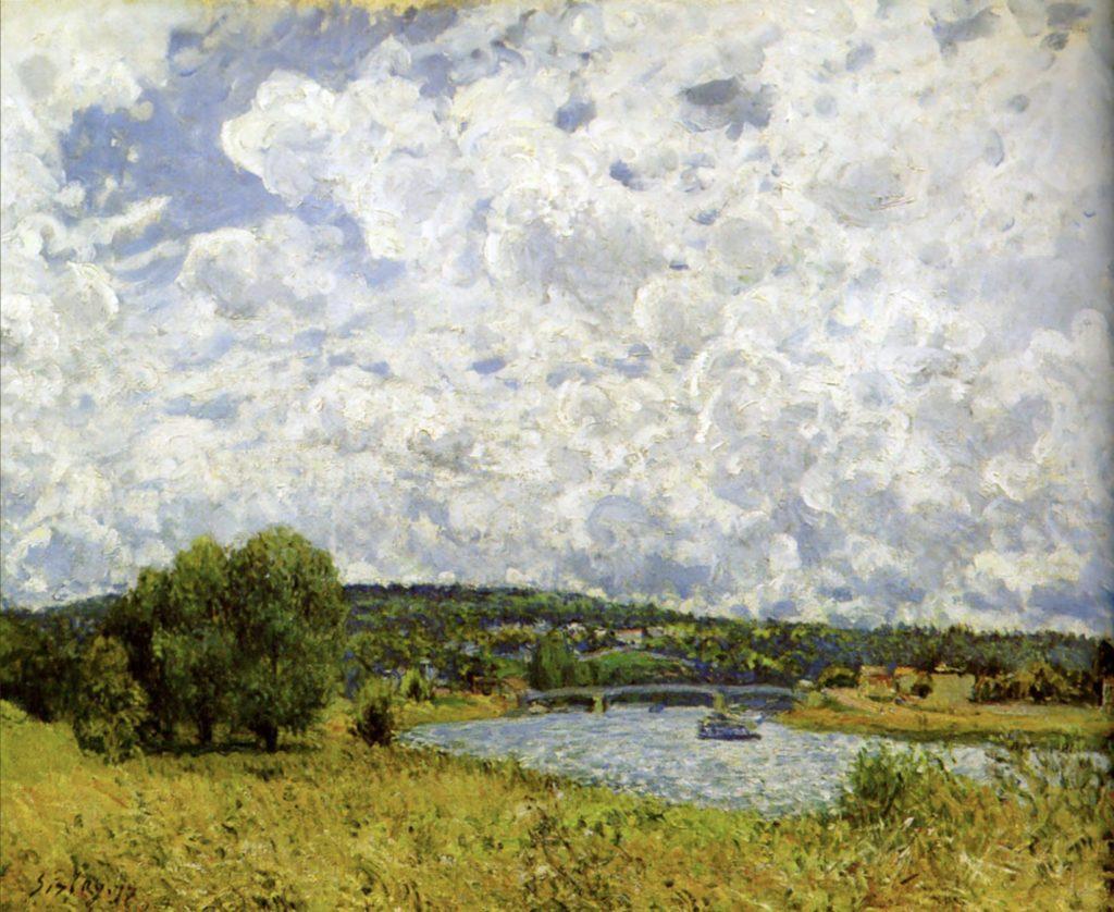 La Seine à Suresnes par Alfred Sisley