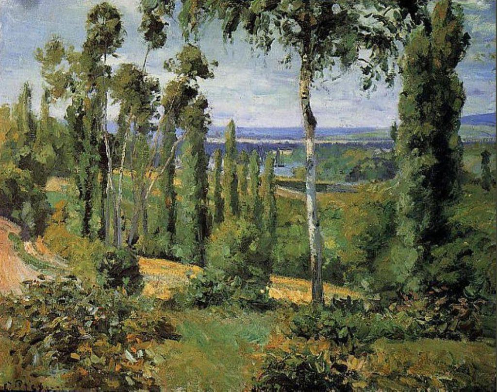 La campagne du côté de Conflans Sainte-Honorine par Camille Pissarro
