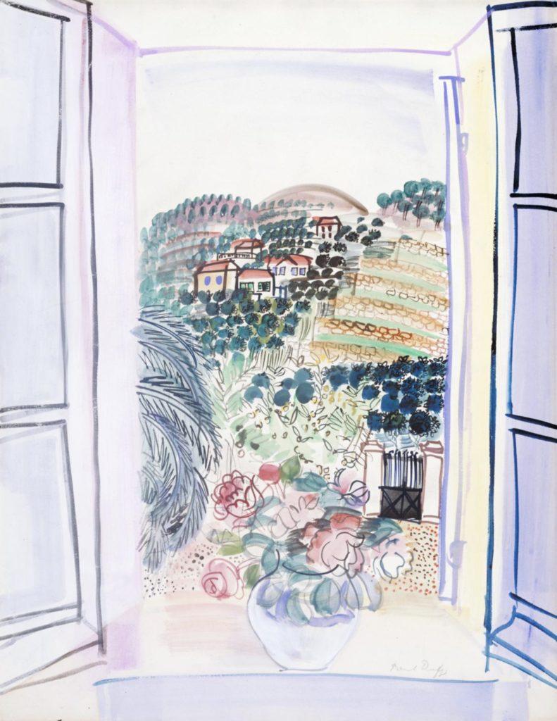 Fenêtre ouverte à Saint-Jeannet par Raoul Dufy