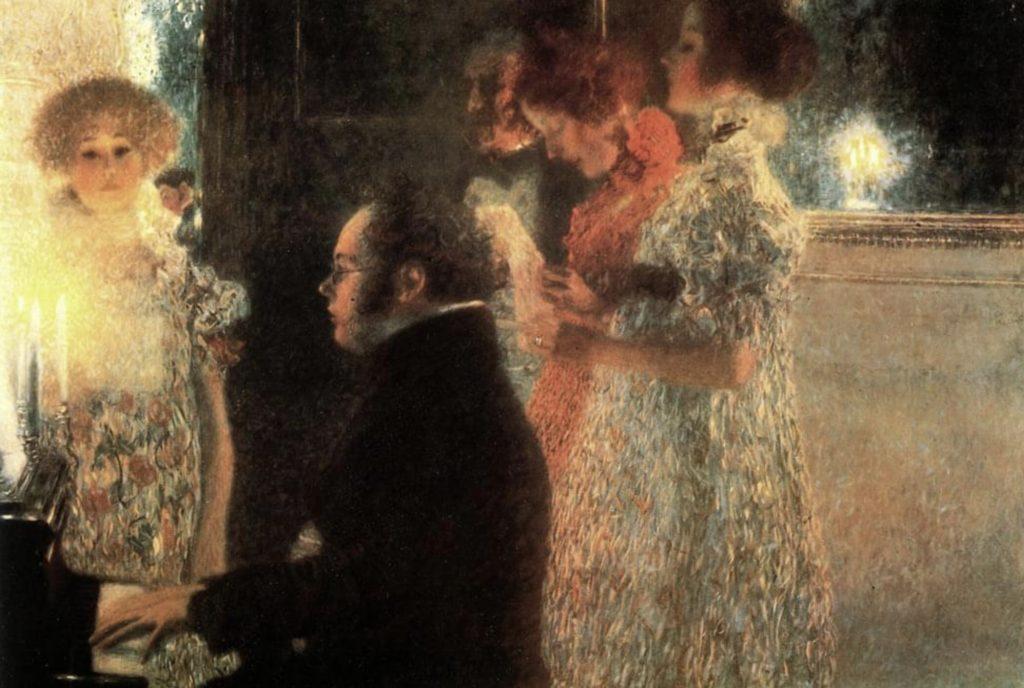 Schubert au piano de Gustav Klimt