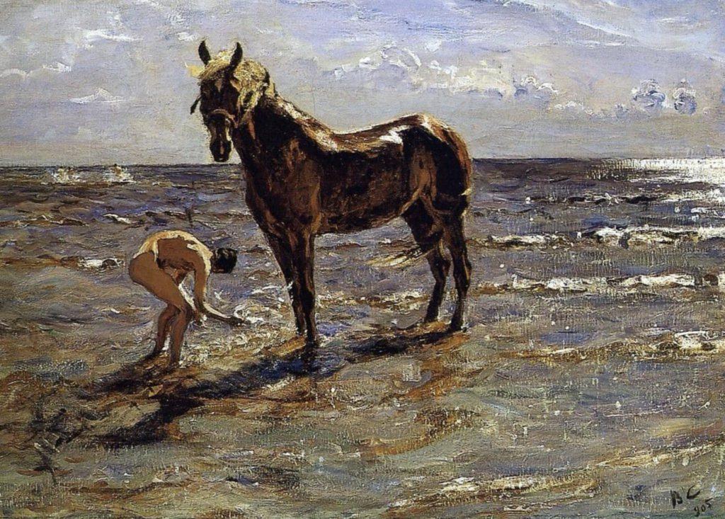 Baignade d'un cheval (1905) / Valentin Alexandrovitch Serov