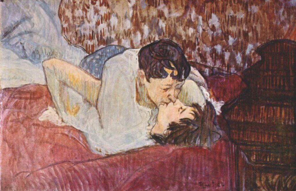 Le baiser par Henri de Toulouse-Lautrec