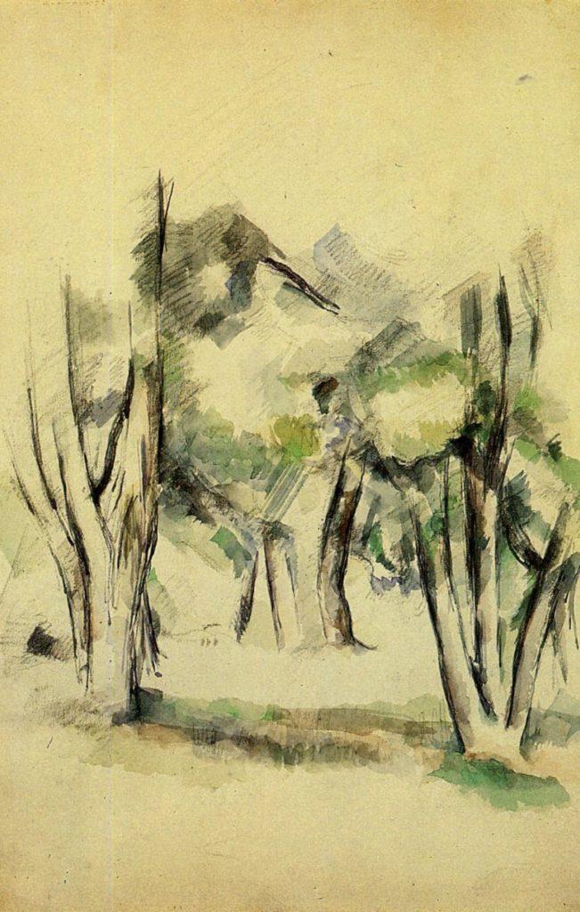 Arbres par Paul Cézanne