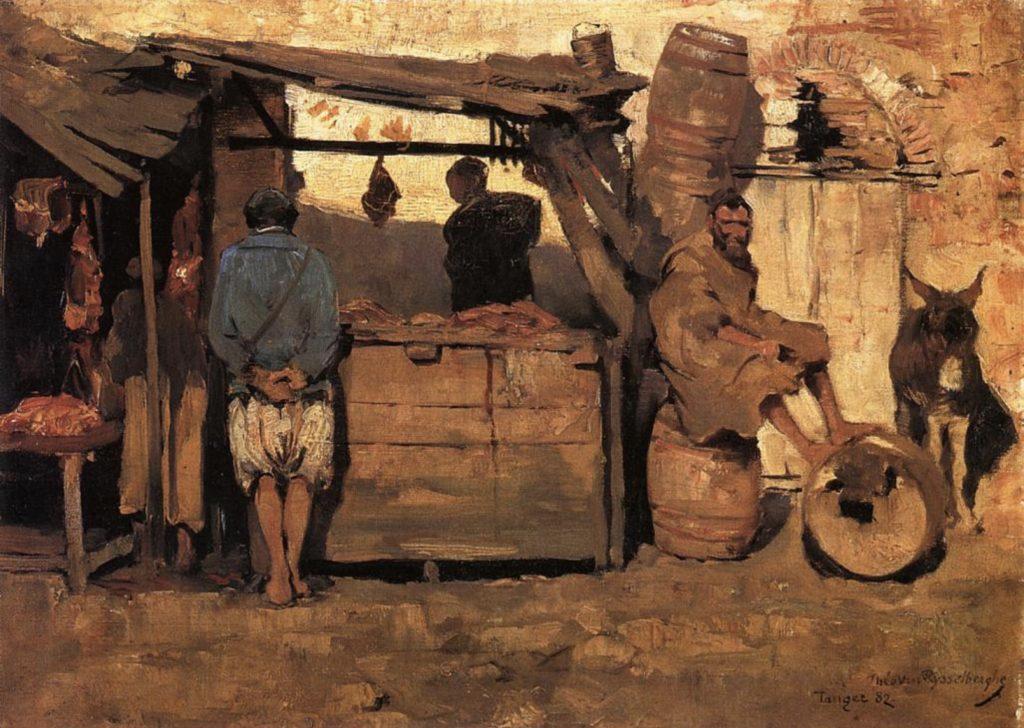 Boucherie marocaine, Tanger par Théo Van Rysselberghe