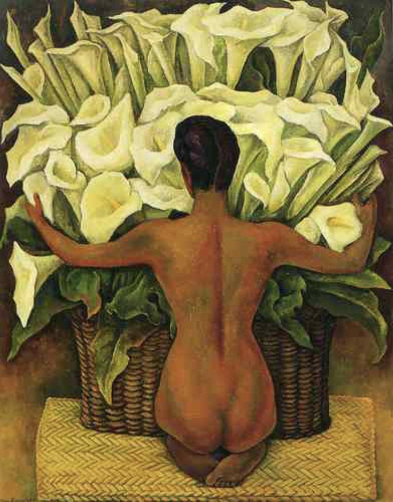 Nue au lys de Diego Rivera