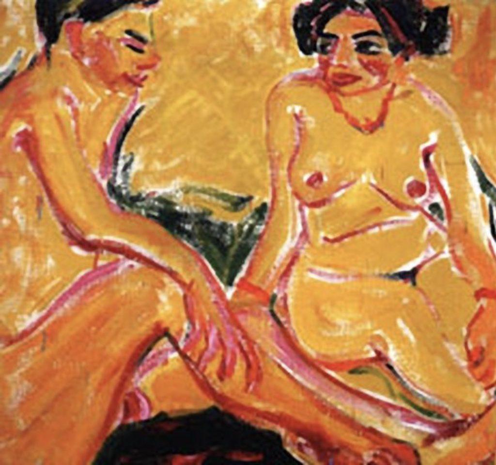 Jeune homme et fille par Erich Heckel