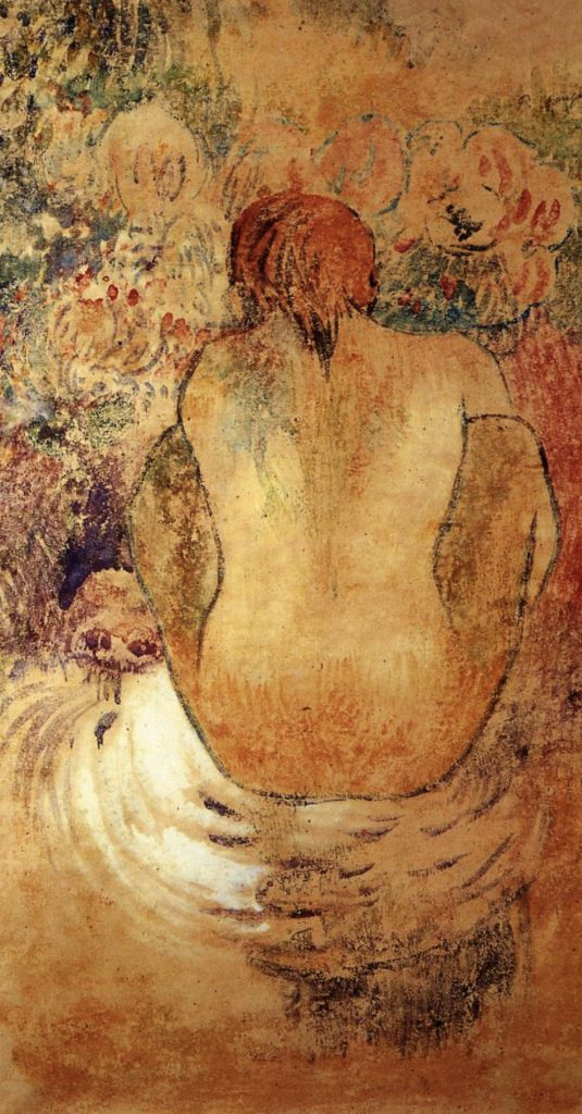 Tahitienne accroupie de Paul Gauguin