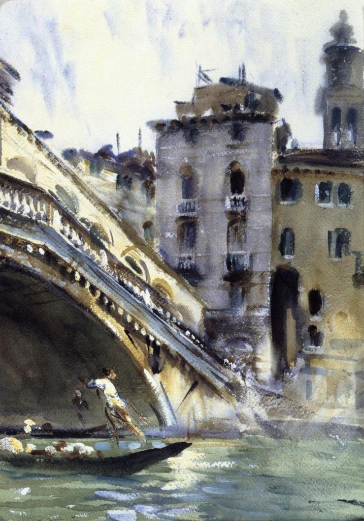 Le Rialto, Venise par John Singer Sargent