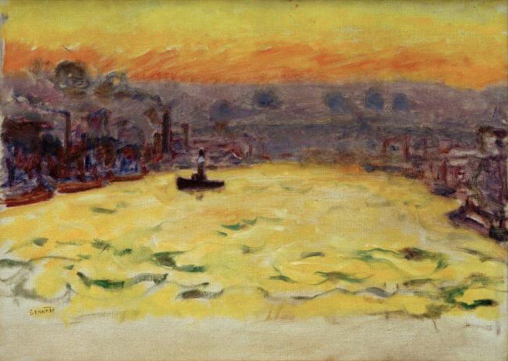 Le port au coucher de soleil de Pierre Bonnard