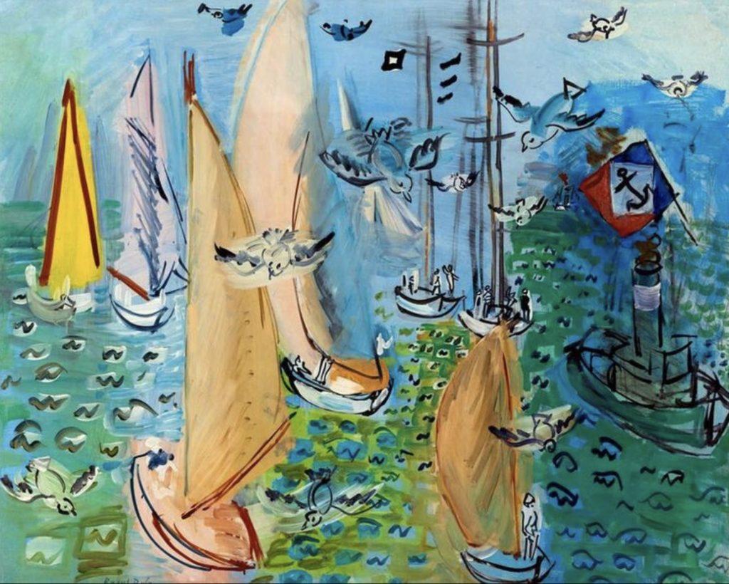 Régate aux mouettes de Raoul Dufy