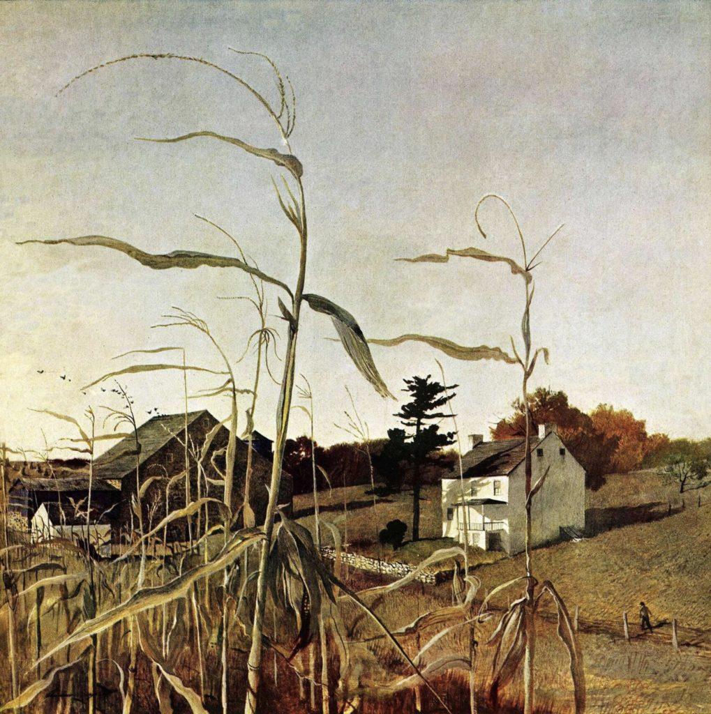 Champ de maïs en automne d'Andrew Wyeth