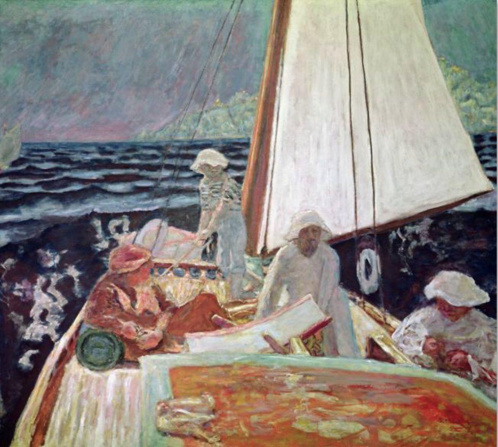 Signa et ses amis, navigant par Pierre Bonnard