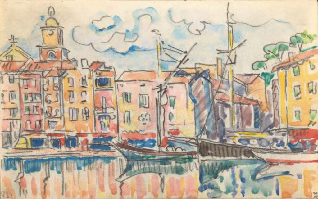 Port d'une ville de la côte méditerranéenne par Paul Signac