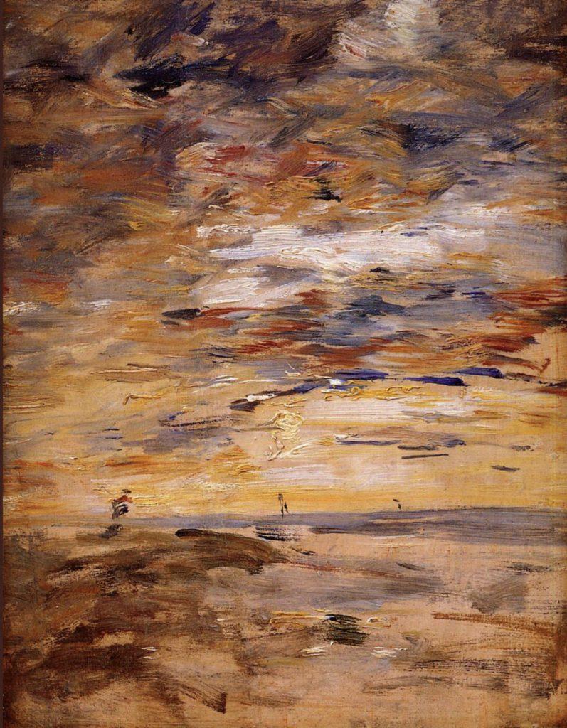 Ciel au coucher du soleil per Eugène Boudin