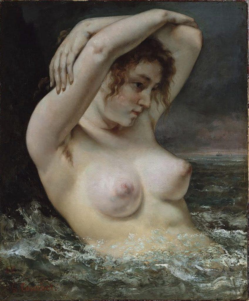 La femme à la vague de Gustave Courbet