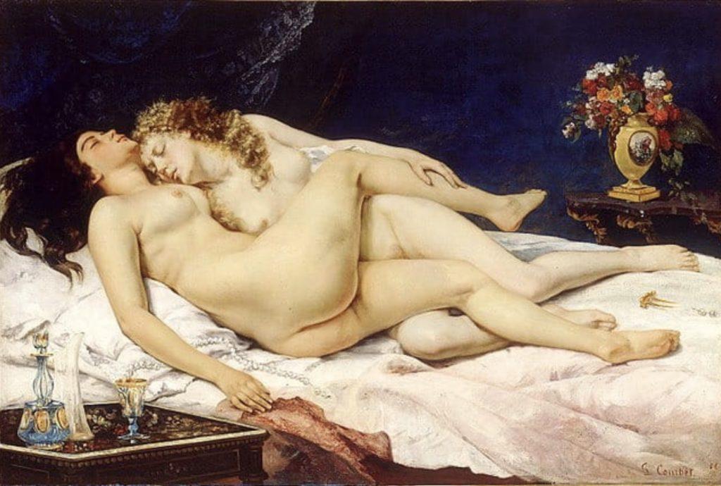 Le sommeil, paresse et luxure de Courbet