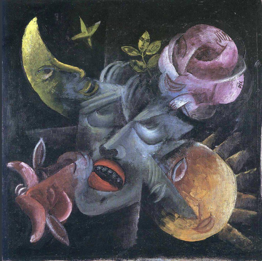 Désir, autoportrait d'Otto Dix