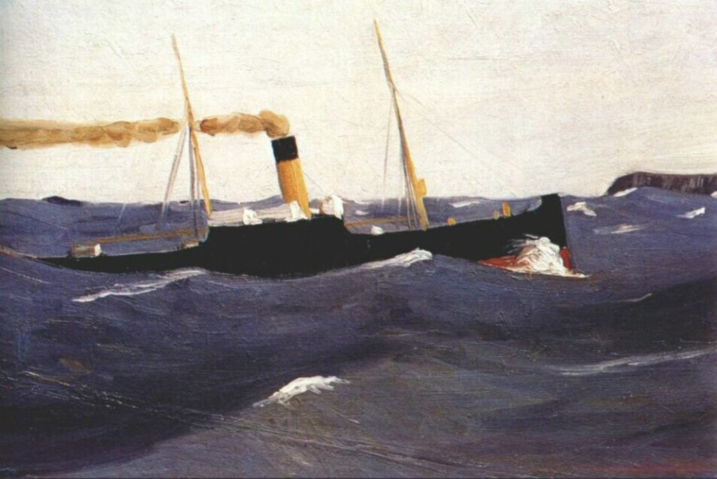 Bateau à vapeur d'Edward Hopper