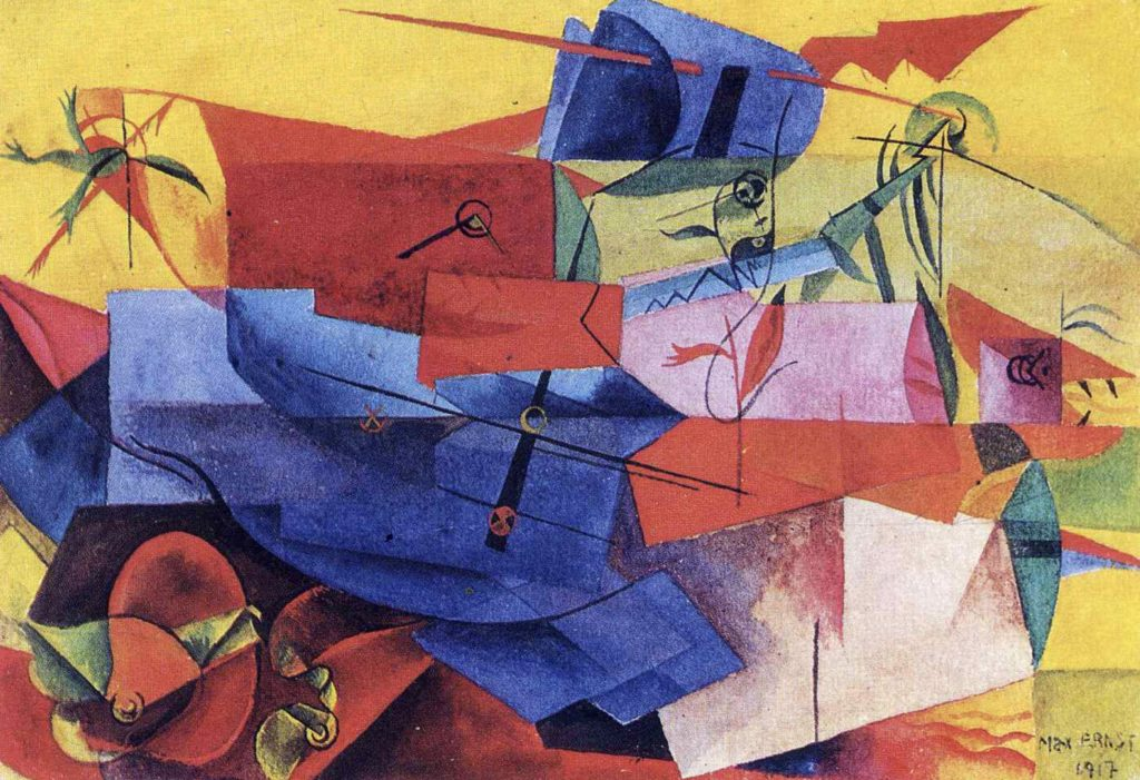 Combat de poissons de Max Ernst
