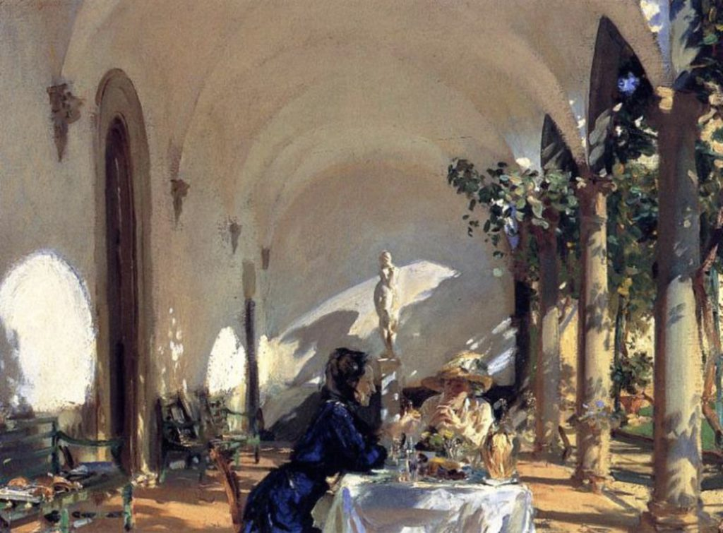 Petit déjeuner dans la loggia de John Singer Sargent
