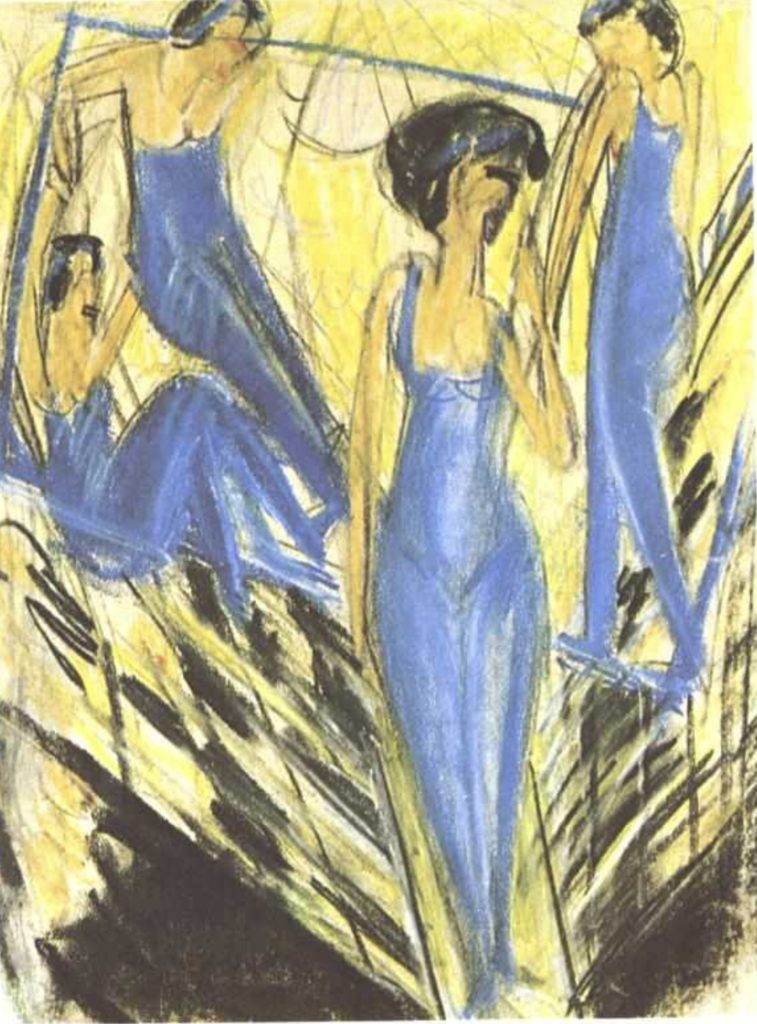 Artistes vêtus de bleu d'Ernst Ludwig Kirchner