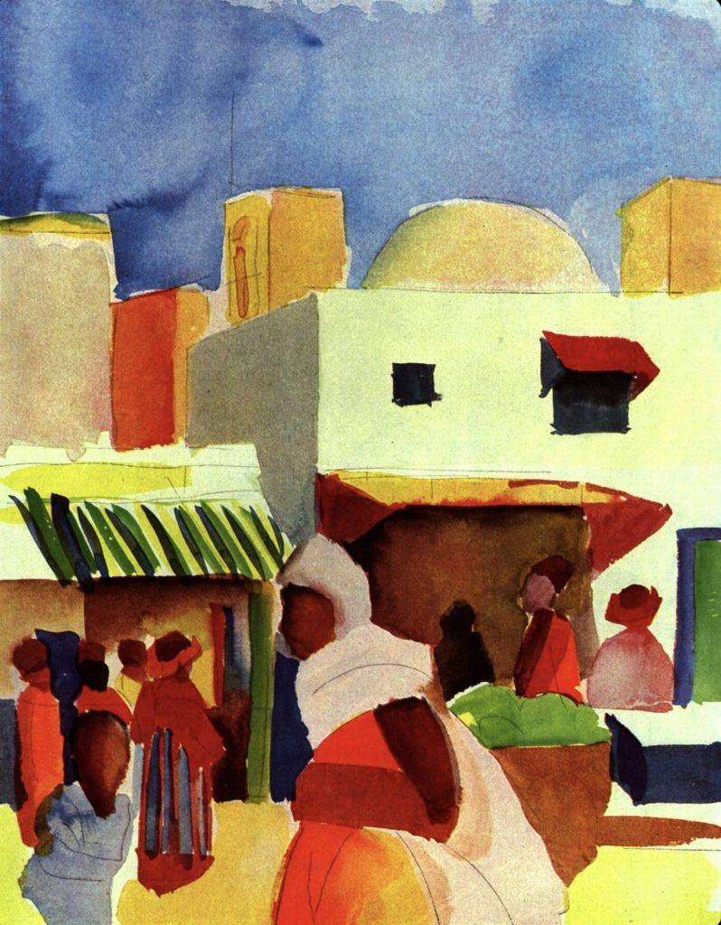 Le marché à Alger par August Macke