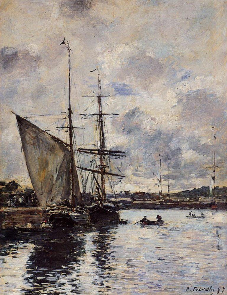 Le port de Deauville par Eugène Boudin