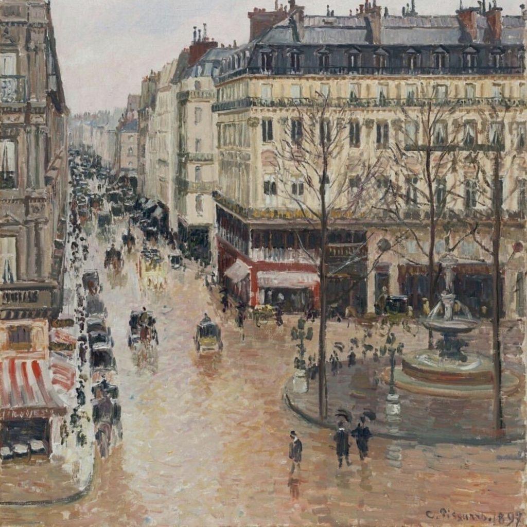 Rue Saint-Honoré, Paris de Camille Pissarro