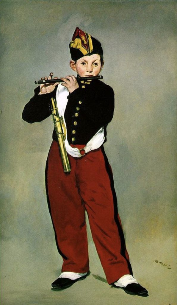 Jeune flûtiste par Édouard Manet