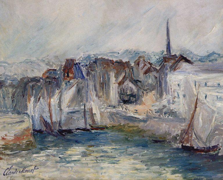 Bateaux sur le port de Honfleur de Claude Monet