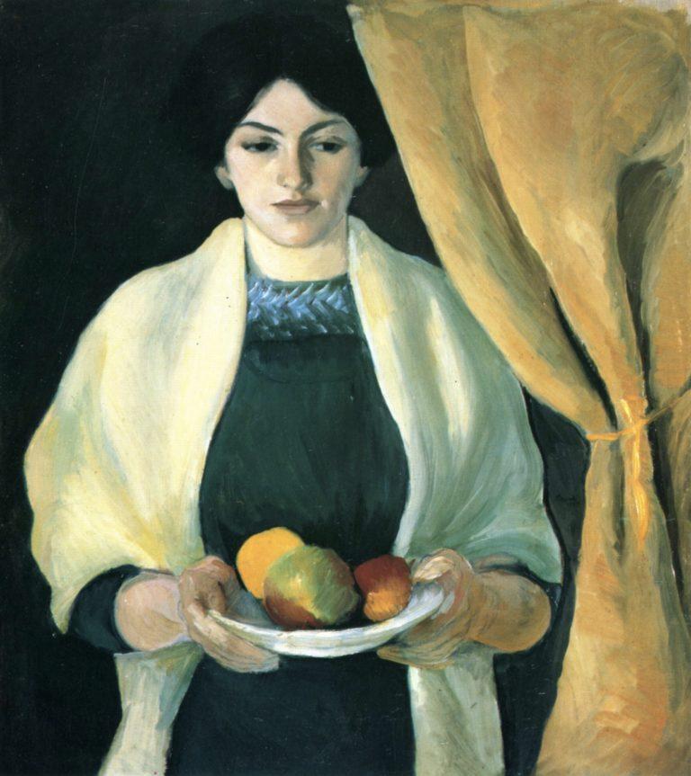 Portrait de la femme de l'artiste, August Macke