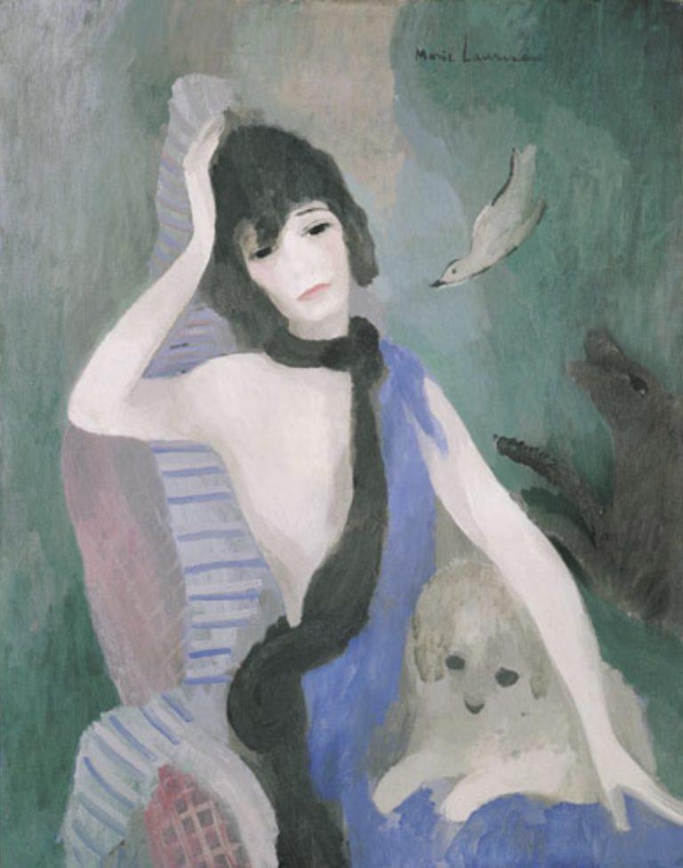 Portrait de Mademoiselle Chanel par Marie Laurencin